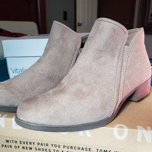 TIme & True Taupe Booties